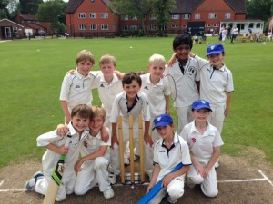U8As team - George M, Theo, Freddie, Monty, Hector, Aadi, Thomas H, George W, Morgan & William